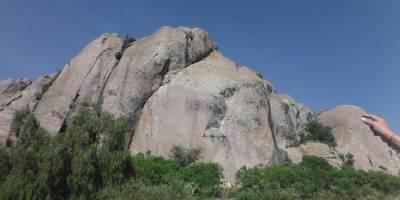 Pared principal de la zona de escalada